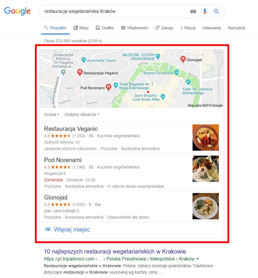 Google Moja Firma Wynik Wyszukiwania