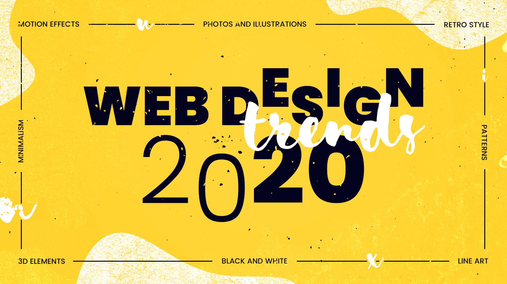 web design i interfejs użytkownika trendy w 2020 roku