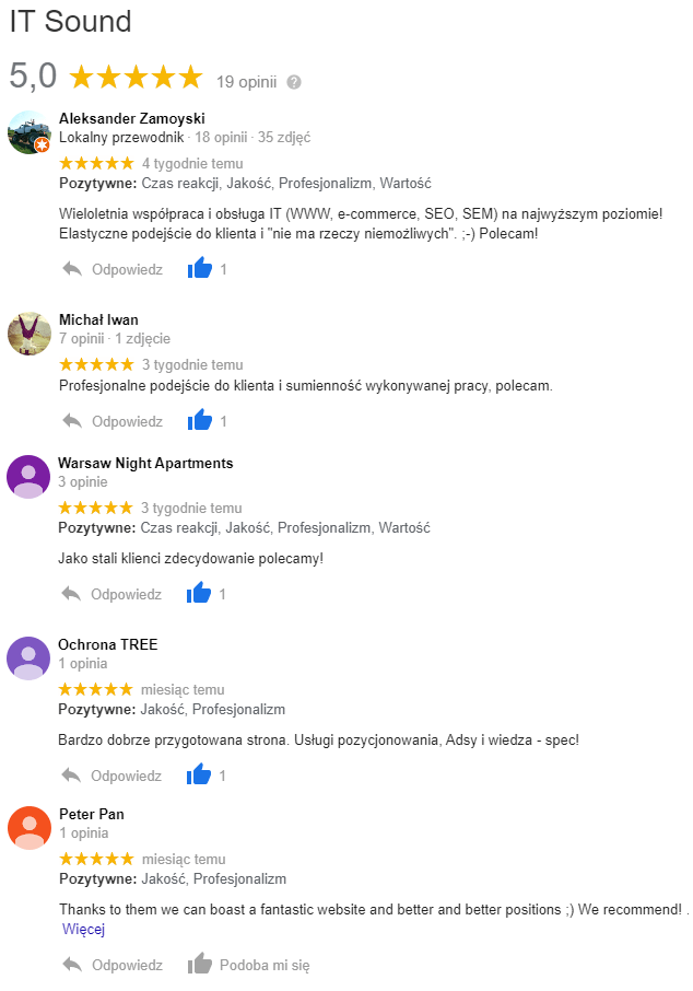 opinie IT Sound google reviews
